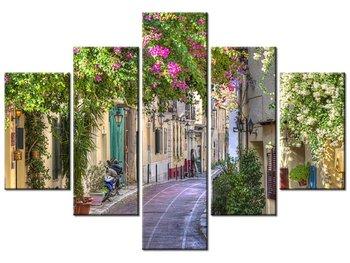 Obraz, Domy w dzielnicy Plaka, 5 elementów, 100x70 cm-Oobrazy