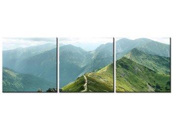 Obraz Główna grań Tatr pod stopami, 3 elementy, 120x40 cm-Oobrazy
