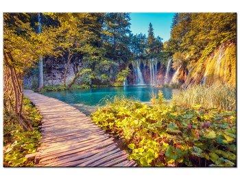 Obraz, Jezioro Plitvice jesienią, 120x80 cm-Oobrazy