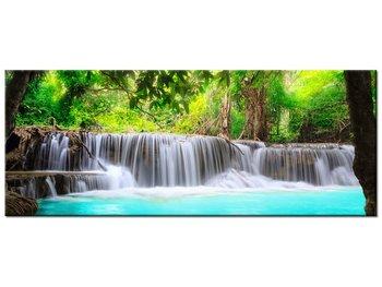 Obraz Lazurowy wodospad, 100x40 cm-Oobrazy