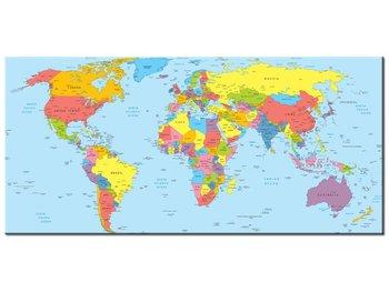 Obraz, Mapa świata, 115x55 cm-Oobrazy