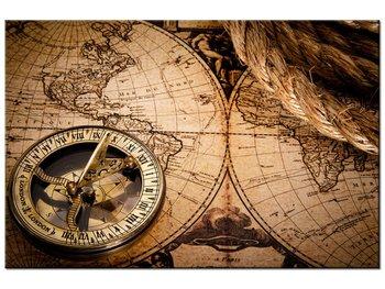 Obraz Mapa świata, 90x60 cm-Oobrazy