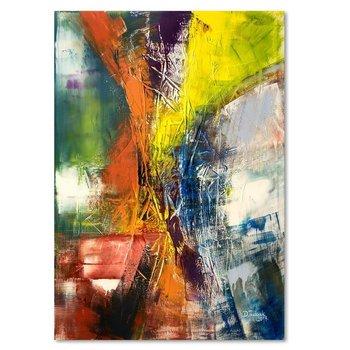 Obraz na płótnie, Abstrakcja 72, 50x70 cm-Caro