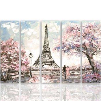 Obraz na płótnie Canvas CARO, Wiosna w Paryżu, 200x100 cm-Caro