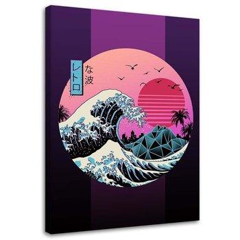 Obraz na płótnie Canvas FEEBY, Fala tsunami anime, 40x60 cm-Feeby