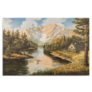 Obraz na płótnie FEEBY Canvas, Krajobraz górski 2, 40x60 cm-Feeby