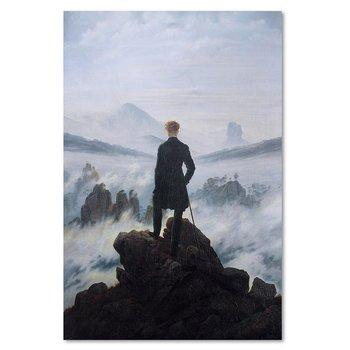 Obraz na płótnie FEEBY Canvas, Reprodukcja obrazu C. D. Friedricha: Wędrowiec nad morzem mgły, 70x100 cm-Feeby