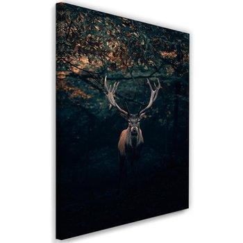 Obraz na płótnie, jeleń w zaroślac, 40x60 cm-Caro