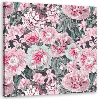 Obraz na płótnie: Kwiaty, 40x40 cm-Feeby