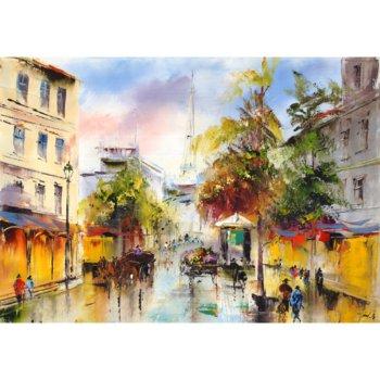 Obraz na płótnie, MIASTO JESIENIĄ, 100x70 cm-Art-Canvas