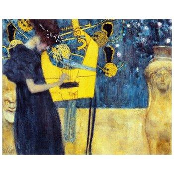 Obraz na płótnie Music - Gustav Klimt 80x100-Legendarte