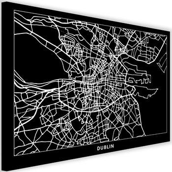 Obraz na płótnie, plan miasta Dublin, 60x40 cm-Caro