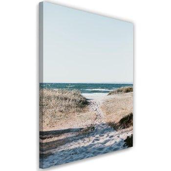Obraz na płótnie, zejście na plaż, 40x60 cm-Caro