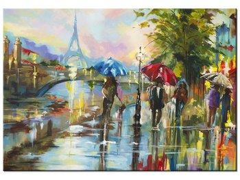 Obraz, Paryż w deszczu, 100x70 cm-Oobrazy