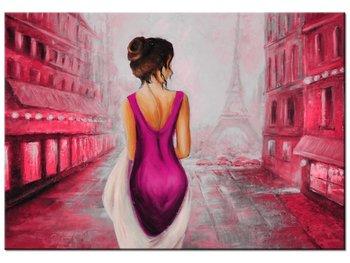Obraz, Spacer w Paryżu w różu, 100x70 cm-Oobrazy
