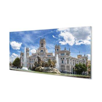 Obraz szklany TULUP Hiszpania Fontanna Madryt, 100x50 cm cm-Tulup