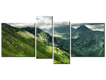 Obraz Tatry, 4 elementy, 120x55 cm-Oobrazy