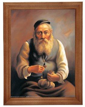 Obraz w drewnianej ramie, 18x24 cm- Żyd III, Marian Kaszuba-Postergaleria