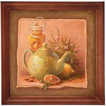 Obraz w drewnianej ramie, 20x20 cm- Czajnik, Aleksander Karcz-Postergaleria