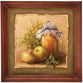 Obraz w drewnianej ramie, 20x20 cm- Słoik, Aleksander Karcz-Postergaleria