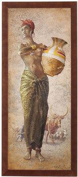 Obraz w drewnianej ramie, 20x50 cm- African Girl I, Aleksander Karcz-Postergaleria