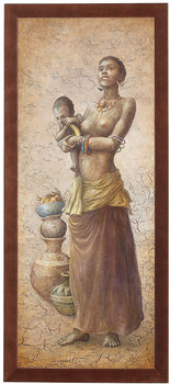 Obraz w drewnianej ramie, 20x50 cm- African Girl II, Aleksander Karcz-Postergaleria