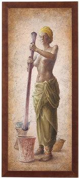 Obraz w drewnianej ramie, 20x50 cm- African Girl III, Aleksander Karcz-Postergaleria