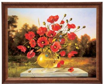 Obraz w drewnianej ramie, 40x50 cm- Maki, Cezary Różycki-Postergaleria