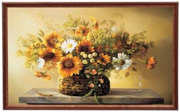 Obraz w drewnianej ramie, 60x100 cm- Kwiaty, Cezary Różycki-Postergaleria
