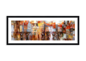 Obraz w ramie ARTTOR Pod mostem też pięknie - most kamieniczki, F1BAB100x40-3476, 100x40 cm-ARTTOR