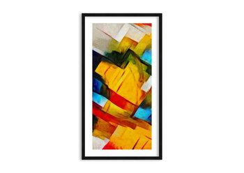 Obraz w ramie ARTTOR Różnobarwny przekładaniec - abstrakcja kolory, F1BPA55x100-3451, 55x100 cm-ARTTOR