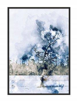 Obraz w ramie czarnej E-DRUK, Akwarela, 53x73 cm, P1662-e-druk