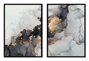 Obraz w ramie czarnej E-DRUK, Dyptyk Marmur, 33x43 cm, P1544-e-druk