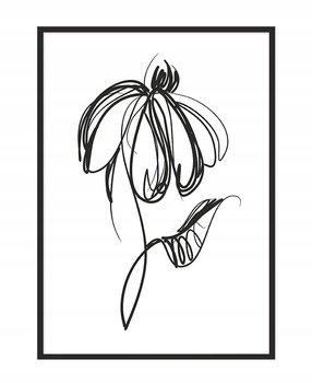 Obraz w ramie czarnej E-DRUK, Kwiat, 33x43 cm, P1066-e-druk
