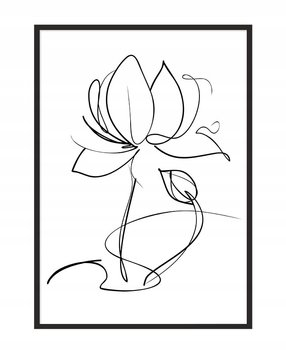 Obraz w ramie czarnej E-DRUK, Kwiat, 33x43 cm, P1067-e-druk