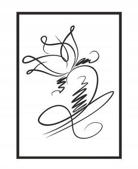 Obraz w ramie czarnej E-DRUK, Kwiat, 33x43 cm, P1069-e-druk