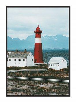 Obraz w ramie czarnej E-DRUK, Latarnia Morska, 33x43 cm, P829-e-druk