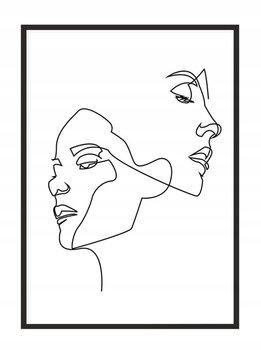 Obraz w ramie czarnej E-DRUK, Line art Oni, 53x73 cm, P1596-e-druk