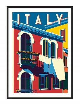 Obraz w ramie czarnej E-DRUK, Włochy, 33x43 cm, P1282-e-druk