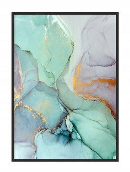 Obraz w ramie czarnej E-DRUK, Zielony Marmur, 53x73 cm, P1464-e-druk