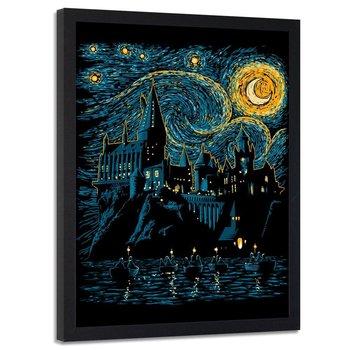 Obraz w ramie czarnej FEEBY, Szkoła czarodziejów van Gogh, 40x60 cm-Feeby
