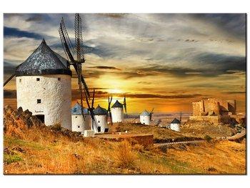 Obraz, Wiatraki w Hiszpanii, 90x60 cm-Oobrazy