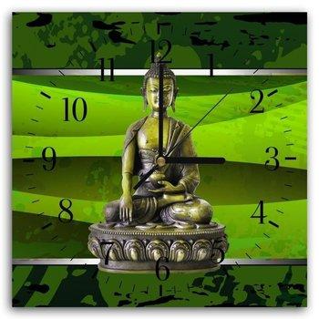 Obraz z zegarem CARO Budda w kolorze, 60x60 cm-Caro
