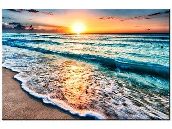 Obraz, Zachód słońca w Cancun, 120x80 cm-Oobrazy