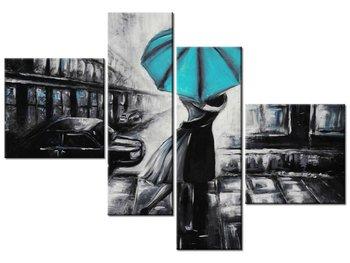 Obraz Zakochani i turkus, 4 elementy, 100x70 cm-Oobrazy