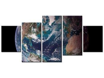 Obraz Ziemia - NASA, 5 elementów, 150x70 cm-Oobrazy
