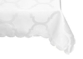 Obrus 60 x 120 Koniczyna Marokańska Biały - 60x120-AH