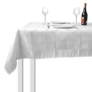 Obrus PLAMOODPORNY na stół biały prostokątny 130x180 cm-EH Excellent Houseware