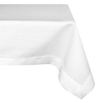 Obrus plamoodporny z mereżką MÓWISZ I MASZ, biały, 140x180 cm-Mesa Witold Dynowiec