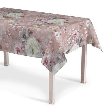 Obrus prostokątny Monet, kremowo-różowy, 180x130 cm-Dekoria
